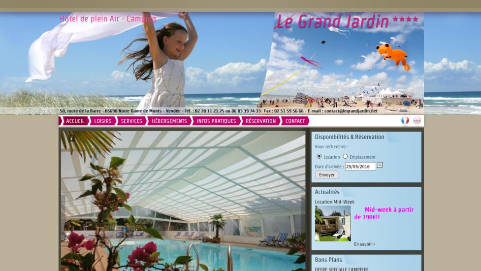 Camping LE GRAND JARDIN |Trouvez votre camping en Vendée